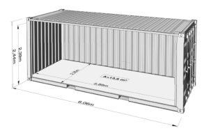 20-fots container mått